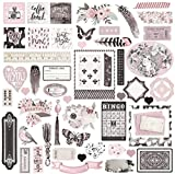 Prima Marketing Ephemera Pack-Rose Quartz