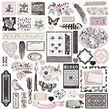 Prima Marketing Ephemera Pack-Rose Quartz