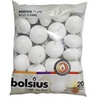 BOLSIUS 20 FLOATING CANDLES [White] x 1
