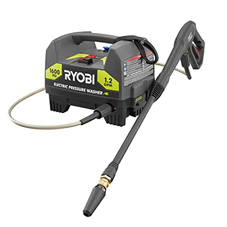 The Ryobi 141612 1600 PSI pressure washer is an electric unit that is perfect for light-duty tasks only such as patio and deck cleaning