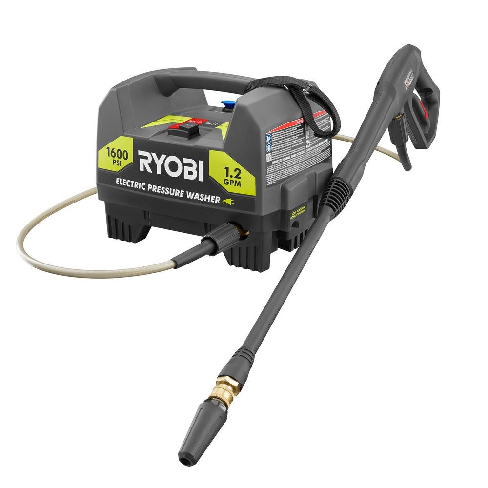 RYOBI 1,600 PSI 1.2 GPM Electric Pressure Washer – Bulk Packaged, Non-Retail Packaging