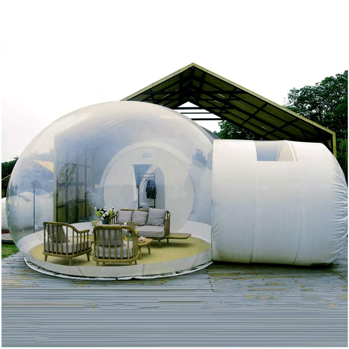インフレータブル透明テント、ガーデンイグルー360ドーム、単層アンチプライバシー通路屋外豪華な半透明インフレータブルバブルテント,4MDiameter  4MDiameter
