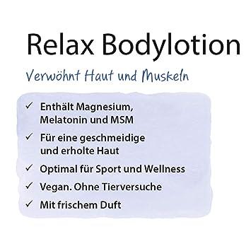 Loción corporal relajante de Dr. Jacobs 200 ml I mima la piel y los músculos I con magnesio, melatonina y MSM: Amazon.es: Salud y cuidado personal