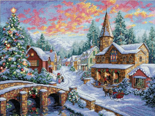 Dimensions Needlecrafts Counted Cross Stitch, Holiday Village from Dimensions Needlecrafts