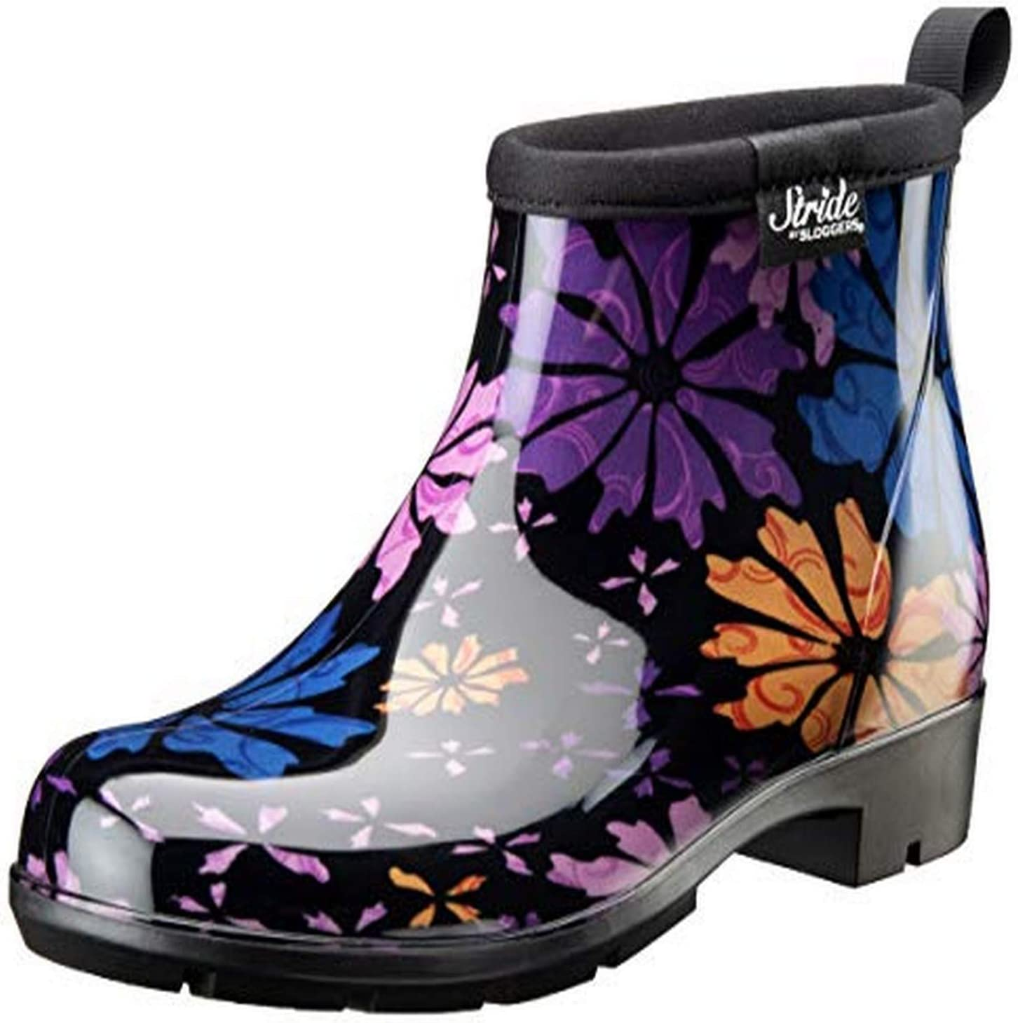 Sloggers 5416FP07 Women's Half Woman's Waterproof Boot, 7, Flower Power