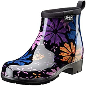 Sloggers 5416FP07 Women's Half Woman's Waterproof Boot, 7, Flower Power
