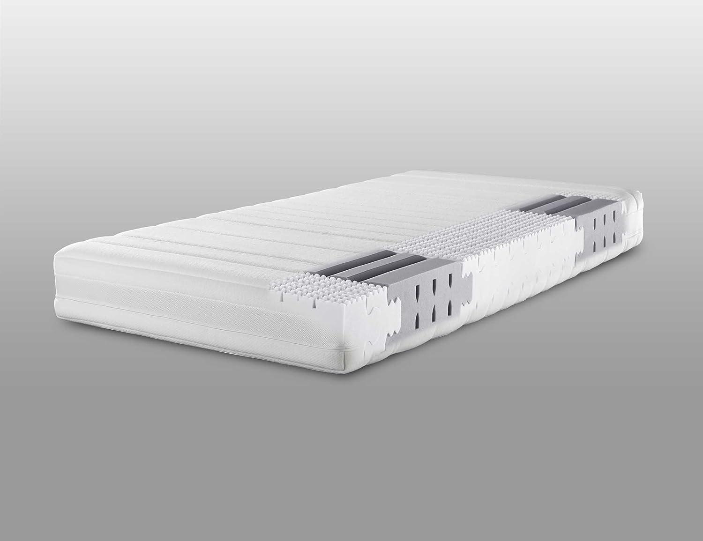 Lattoflex Matratze Medium mit Jersey IS Bezug und Klimastreifen, mit einem festeren Mittelteil für