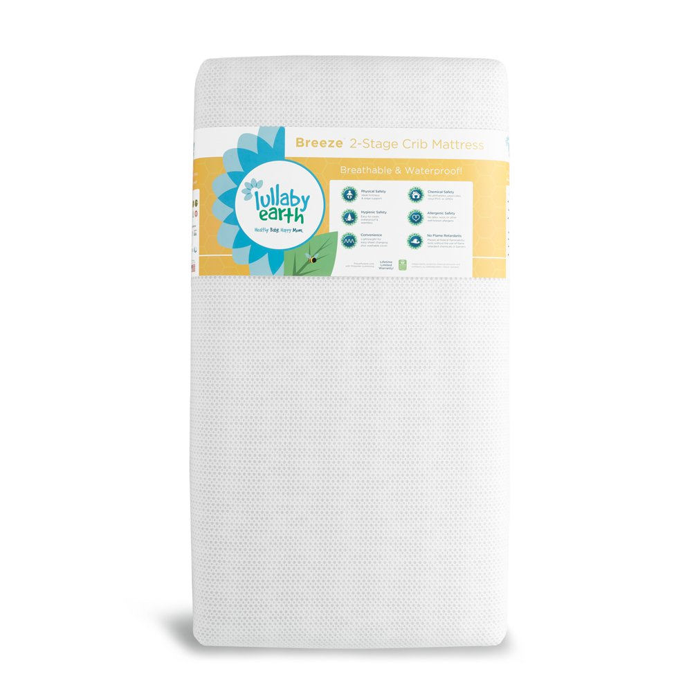 LULLABY EARTH BREEZE CRIB MATTRESS 2-STAGE - WHITE