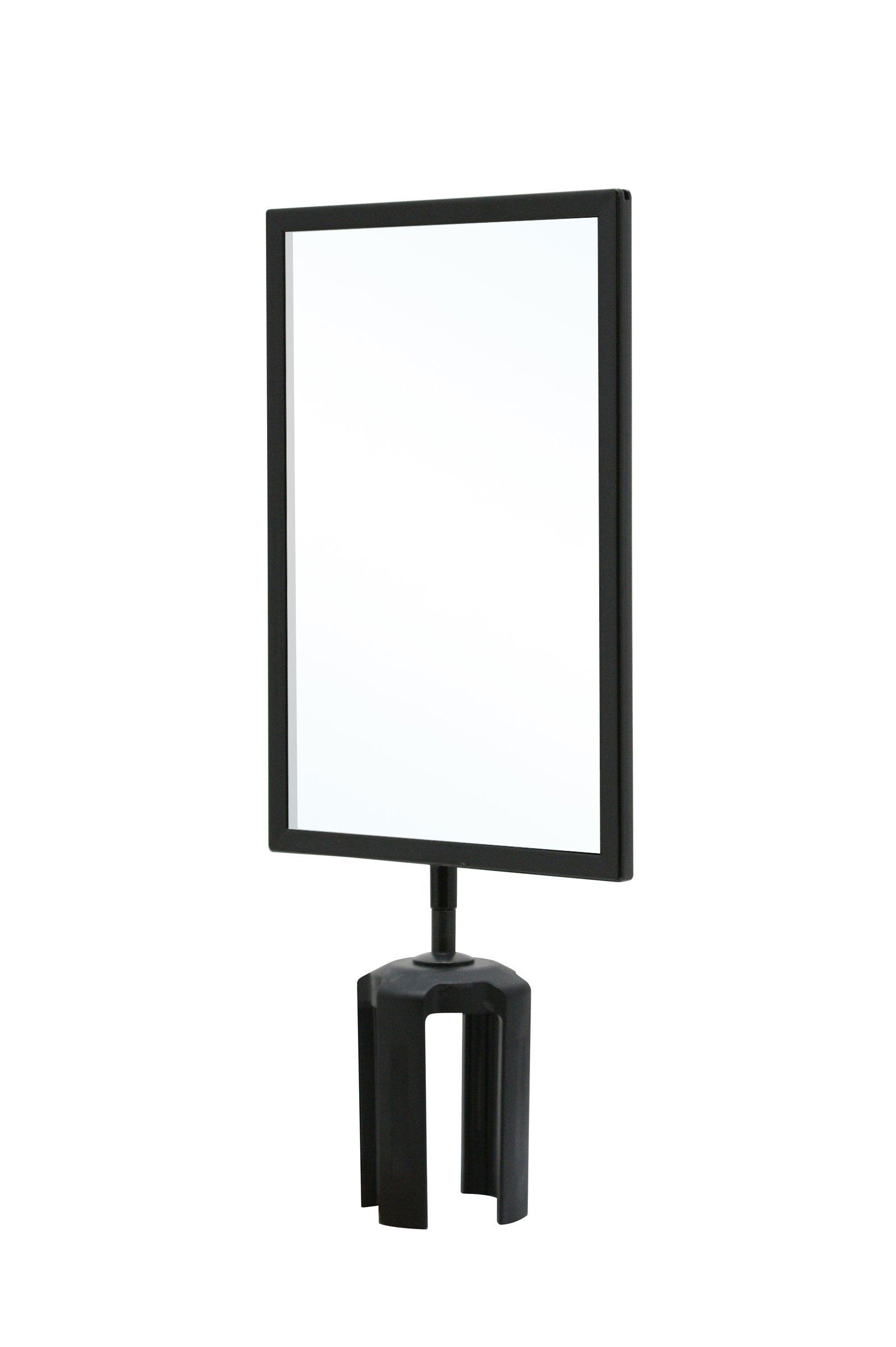 Queueway QWAYSIGN-7'' X 11'' -BLANK SIGN FRAME Blank Sign Frame, Clear Acrylics, 7'' x 11''
