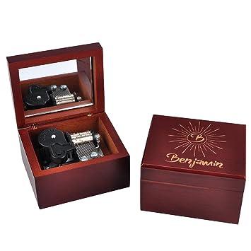 Personalized Wooden Musical Box Custom Bridesmaid Wood Music Girlfriend Gift