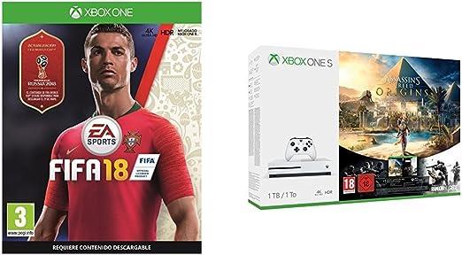 FIFA 18 - Edición estándar + Xbox One S - Consola 1 TB Assassins ...