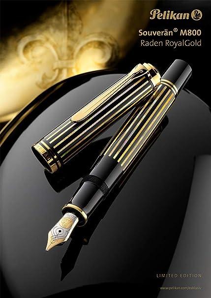Pelikan pluma estilográfica Raden Limited Edition Royal oro en estuche m: Amazon.es: Oficina y papelería