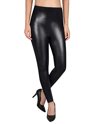 HDE Shiny Leggings for Women Glitter Metallic Wet Look Tight Sexy ... 1d05ff5e89