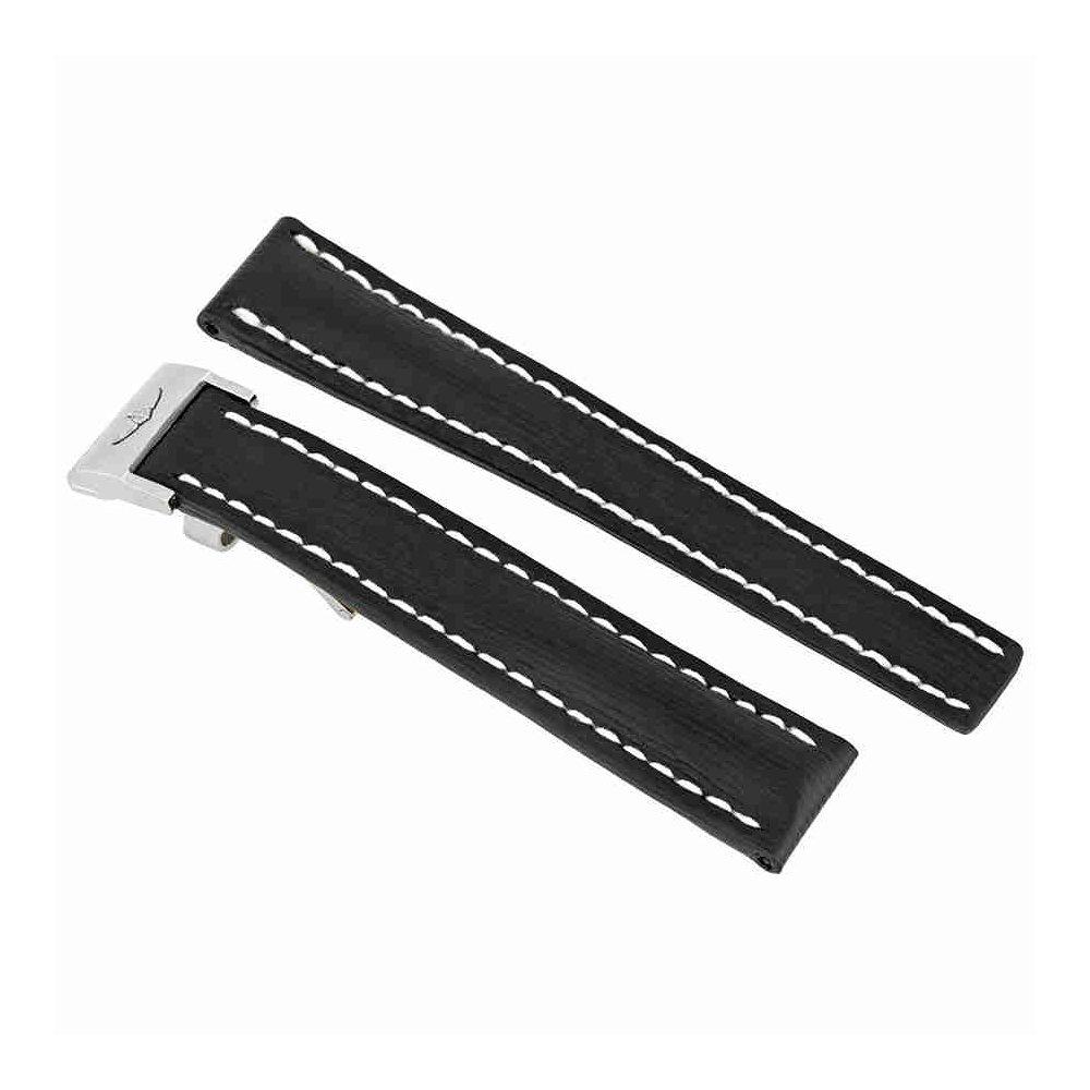 ブライトリングブラックカーフスキン16 mmレザーストラップ252 x -a14d.1 B07DKFW6TB