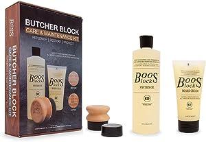 John Boos Block MYSCRMAPPGP Cutting Board Care Set, 16 oz. Mystery Oil, 5 oz. Board Cream And Applicator, in Gift Packaging