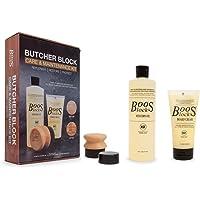 John Boos Block MYSCRMAPPGP Cutting Board Care Set, 16 oz. Mystery Oil, 5 oz. Board Cream And Applicator, in Gift…