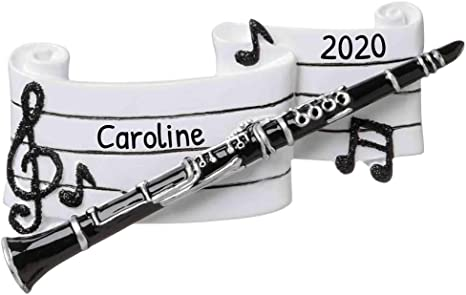 Clarinet Christmas 2021 Amazon Com Personalized Clarinet Christmas Tree Ornament 2021 Clarinetist Musician Perform Instrument Wood Wind Hobby Profession Teacher Friend 1st Tradition Fun Holiday Play Gift Year Free Customization Home Kitchen