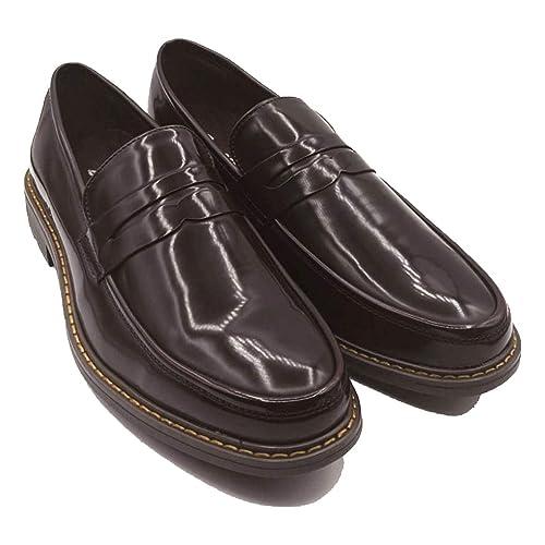 Ciabalù - Mocasines de Cuero para Hombre Morado Burdeos Morado Size: 44 EU: Amazon.es: Zapatos y complementos