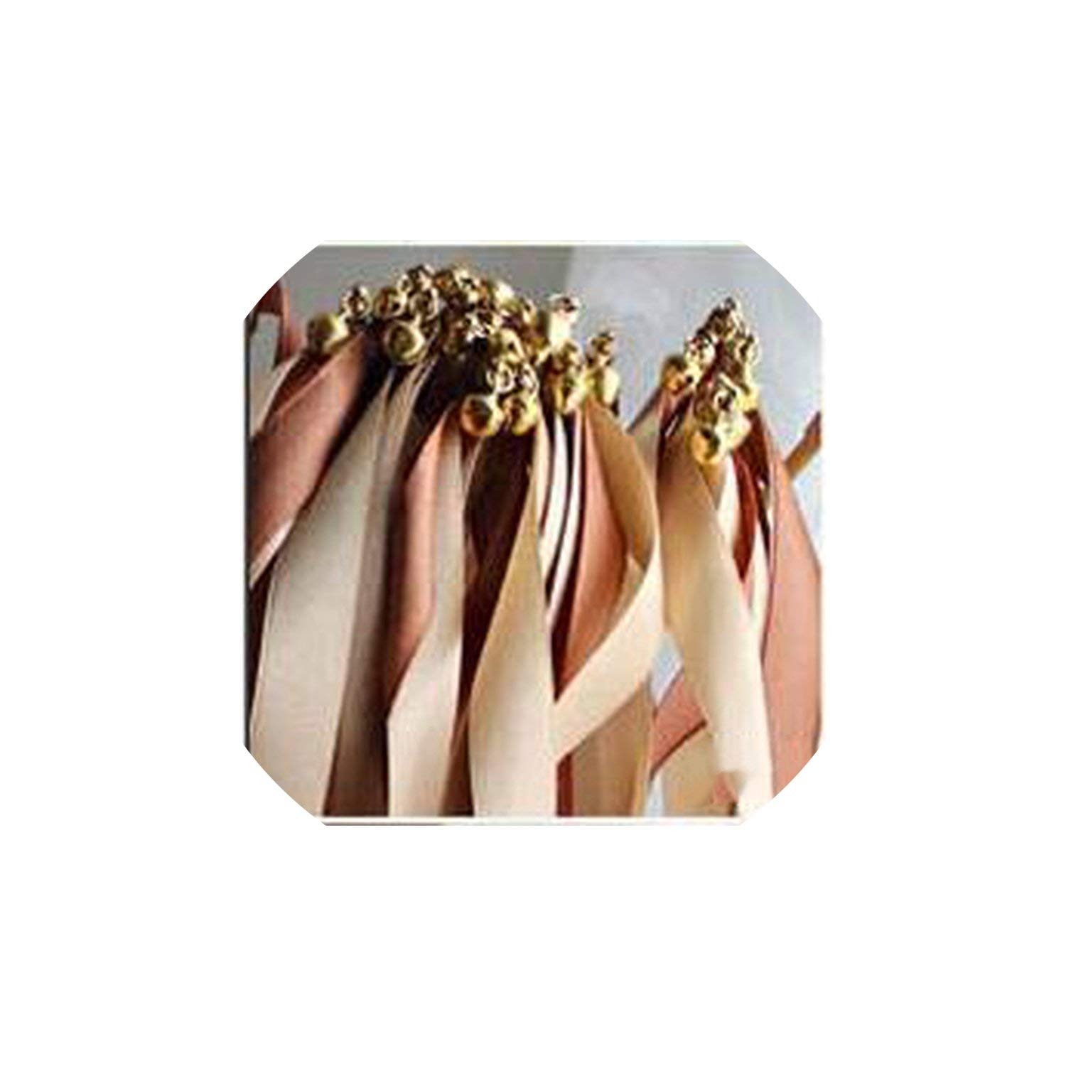 Party Streamers Wedding Props Ribbon Sticker Ribbon Wedding Streamers with Gold Bells,8