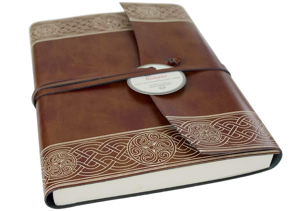 LEATHERKIND Olympia Recyceltes Leder Notizbuch Haselnussbraun, A5 Blanko Seiten - Handgefertigt in Italien B01I06JJTI    Online Shop