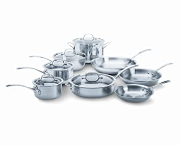 Calphalon Tri-Ply Stainless Steel 13-Piece Cookware Set: Amazon.es: Hogar