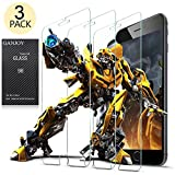 GANJOY 3-Pack iPhone 7 / 6s / 6 Screen Protector Glass, 0.3MM Slim And 9H Hardness, Anti-Fingerprint, for Apple iPhone 7, iPhone 6S, iPhone 6