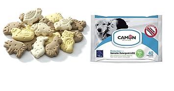 Camon - Toallitas al aceite de nim y lavanda, y galletas en forma de animalitos