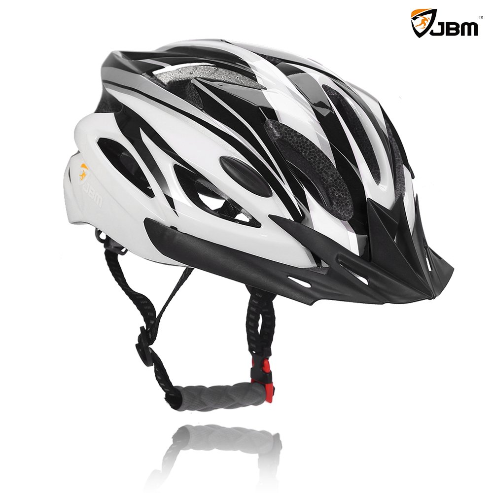 JBM Adult Cycling Bike Helmet Specialized for Men Women Safety Protection CPSC Certified (18 Colors) Black/Red / Blue/Pink / Silver Adjustable Lightweight Helmet with Reflective Stripe and Remova JBM International B01KJQ5L26