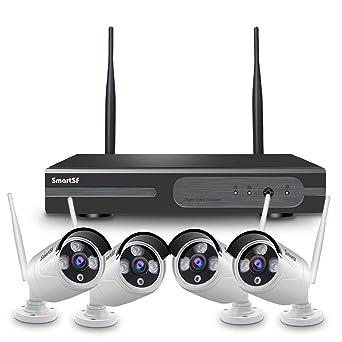 2020 Update】SmartSF 1080P 4CH HD NVR Kit de Seguridad WiFi ...