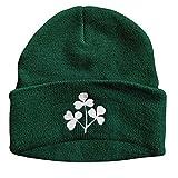 Rugby Imports Irish Shamrock Knit Cap (Dark Green)