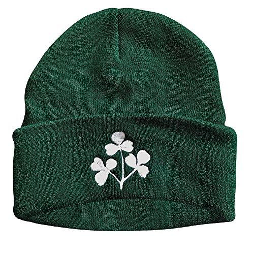 IRISH SHAMROCK KNIT CAP (DARK GREEN)
