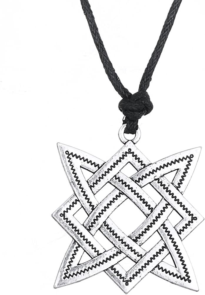 fishhook Antic savic Star of Russia Nordic Svarog Star Rus Amulett Talisman Anh/änger Halskette