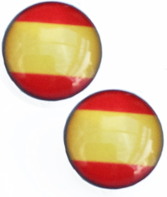 La bandera nacional española. Pendientes de acero inoxidable de 8 mm: Amazon.es: Joyería