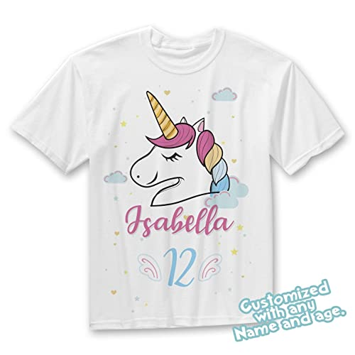 Amazon Girl Unicorn Birthday Shirt Custom For Girls Personalized Toddler