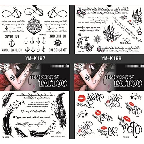 94c6df21c5db6 Spestyle fake tattoos that look real 4pcs fake temp tattoo stickers in one  package, it's