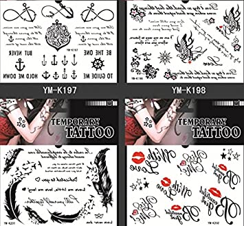 Amazon Com Spestyle Fake Tattoos That Look Real 4pcs Fake