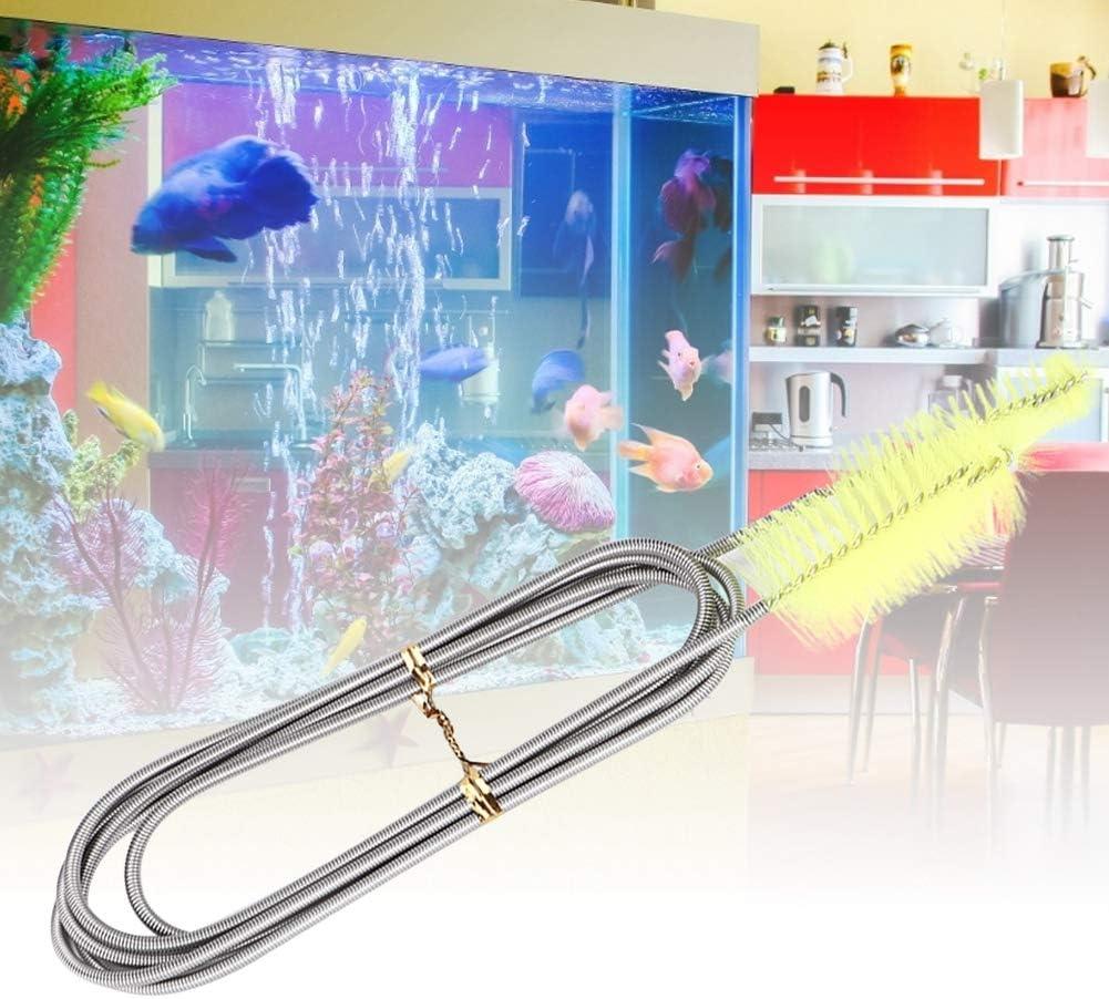 Double Head Aquarium Cleaning Brush Fish Tank Air Tube Pipe Hose Cleaner Brushes Flexible Double Ended Bristles Hose Pipe Cleaner Fish Tank Tube Algae Cleaner Aquarium Pipe Hose Filter Brush Blue