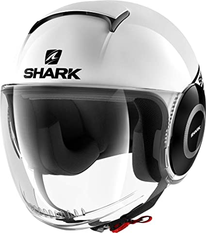 Blanc Taille XS Shark Casque Moto Nano