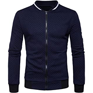 SHOBDW Otoño invierno hombres decorativos cinta ocio cuello chaqueta casual abrigo 8cN409yY