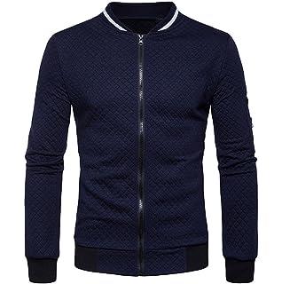 SHOBDW Otoño invierno hombres decorativos cinta ocio cuello chaqueta casual abrigo