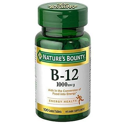 Natures Bounty Vitamina B-12 1000 mcg 100 Comprimidos