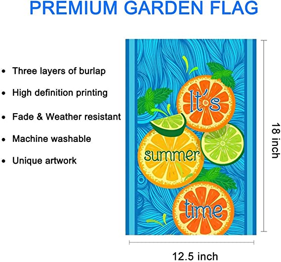 Amazon Com Lhsion It S Summer Time Garden Flag 12 5 X 18 Decorative House Yard Double Sided Flag For Indoor Outdoor Summer Decoration Garden Outdoor