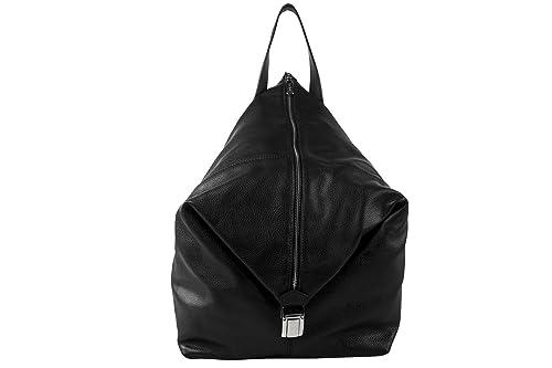 09f489b7f3 Pierre Cardin Borsa donna zaino nera in vera pelle Made in Italy N713:  Amazon.it: Scarpe e borse