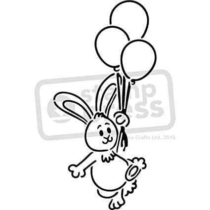 amazon com a3 balloon bunny wall stencil template ws00028098