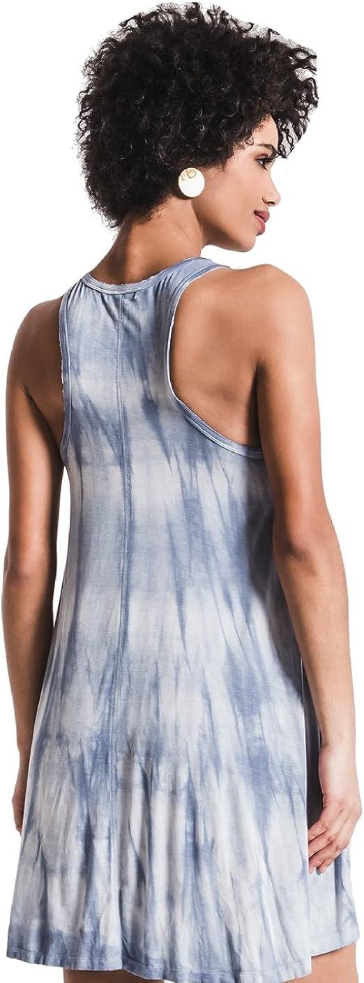 X-Small, Parisian Blue Z SUPPLY The TIE-DYE HIGH Neck Dress