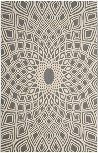 Cheap Safavieh Courtyard Collection CY6616-23621 Anthracite and Beige Indoor/Outdoor Area Rug (9′ x 12′)