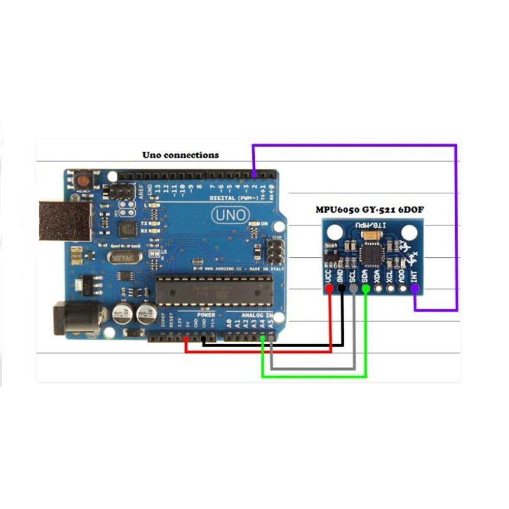 Gy 521 Mpu 6050 Mpu6050 3 Axis Accelerometer Gyroscope Free Project Circuit Diagram Amplifier Module 6 Dof Sensor 16 Bit Ad Converter Data Output