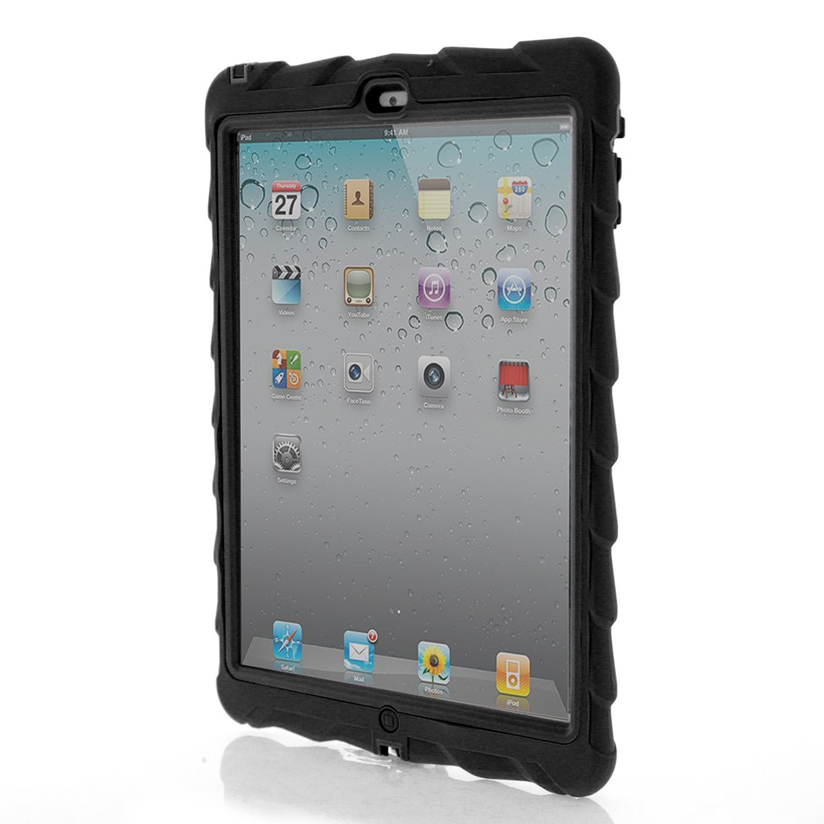 Amazon: Apple Ipad Air Drop Tech Black Gumdrop Cases Silicone Rugged  Shock Absorbing Protective Dual Layer Cover Case:puters & Accessories
