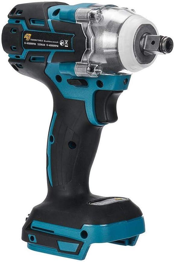 Destornillador de impacto eléctrico, sin escobillas (520 Nm, frecuencia de impacto: 0-4000 ipm), sin batería