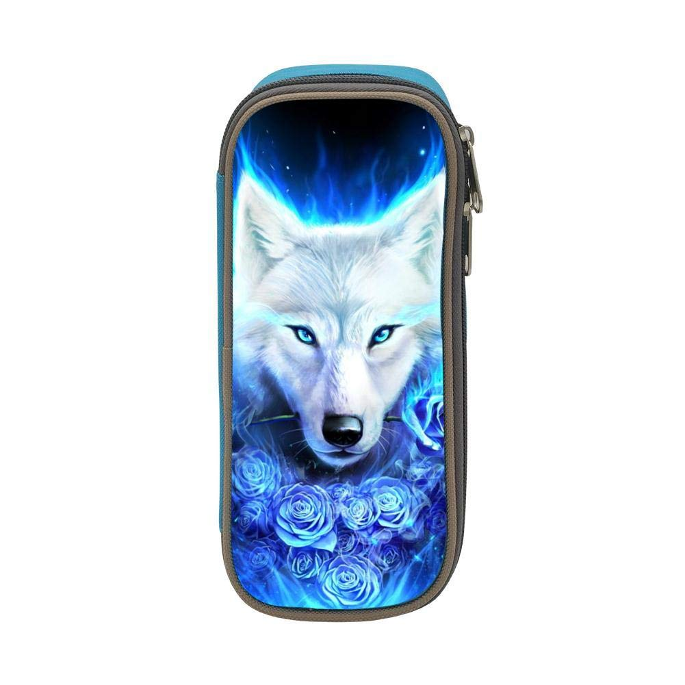 Amazon.com: Estuche para lápices de hielo, diseño de lobo ...